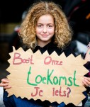 Isabelle, youngest particpant, 15 and climate activist